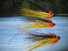 3 V Fly 1 inch Brass Gold Cascade Feeler Francis Salmon Tube Flies & Hooks