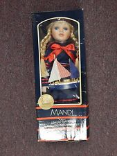 """16"""" PORCELAIN BLONDE DOLL TREASURED MANDI LIMITED EDITION COLLECTIBLE"""