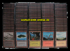 LAND PACK 100 original Magic Länder Karten Sammlung deutsch / german Lot