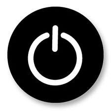 Magnet Aimant Frigo Ø38mm Symbole Signe Embleme Image Logo Bouton On Off Start