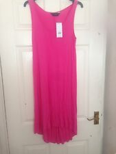 Ladies Pink Size 12 Long Vest Top/tunic Longer At The Back BNWT Dorothy Perkins