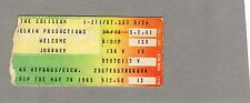 1983 Journey Bryan Adams concert ticket stub Richfield OH Steve Perry Frontiers
