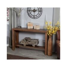 Wood Console Table Rustic Distressed Sofa Accent Antique Entry Foyer Living Room
