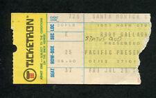 Original 1974 Rory Gallagher Status Quo Concert Ticket Stub Santa Monica Rare