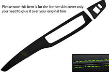 GREEN STITCH TWO PIECE DASH KIT LEATHER COVERS FITS MITSUBISHI LANCER EVO 7 8 9