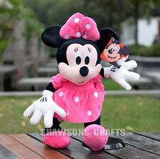 "DISNEY MICKEY MOUSE CLUBHOUSE PLUSH STUFFED TOYS 12"" MINNIE SOFT DOLL"