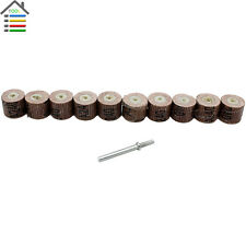 10pc Flap Wheels Sander Disc Replacement Mandrel 240 Grit for Dremel Rotary Tool