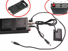 DSLR 15mm Rod Clamp NP-F970 or F550 Battery Power Supply E6 Coupler For 5D2 5D3