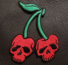 DEATH SKULL TACTICAL CHERRIES USA ARMY MORALE BADGE MILITARY COLOR IRON ON PATCH