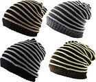 Cable Rib Stripe Slouch Pull On / Neck Face Scarf Snood Beanie Cap Hat