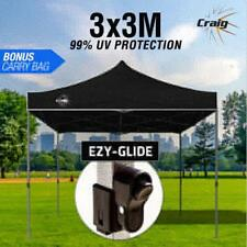 Black 3x3m Outdoor Gazebo Marquee Shade Folding Tent Pop Up Canopy Waterproof
