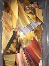 2 Lbs Browns Scrap Stained Glass Mosaics