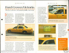 Ford Crow Victoria Taxi Cab Yellow / Police New York City Car Auto FICHE FRANCE