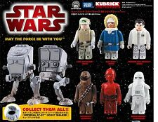STAR WARS DX Series 2 Medicom Kubrick Figure 7 pcs set with Imperial AT-ST