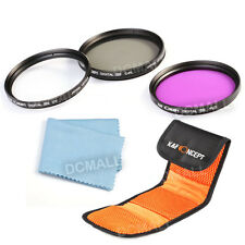 55mm Lens Filter Kit UV FLD CPL Polarizer For Sony Alpha A55 A65 A77 A57 18-55mm