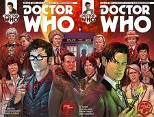 Dr. Who 10th & 11th Doctor #1 Heroes & Fantasies Connecting Cover Variant Set