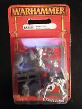 Warhammer Savage Orc Boar Boyz Boss Blister Metal OOP Sealed New 8545B