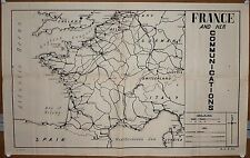 """India WW2 war map poster France And Her Communications 17""""x27"""""""