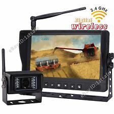 "9"" DIGITAL WIRELESS REAR VIEW BACKUP CAB OBSERVATION CAMERA SYSTEM FARM AG"