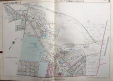 1950 MAIN LINE, DELAWARE CO. PA, NEWTOWN TWP PUBLIC SCHOOL COPY PLAT ATLAS MAP