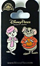 Disney Parks 2 Pins set BERNARD & BIANCA Rescuers - New on card
