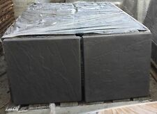 50 LIGHT BLACK CONCRETE RIVEN PAVING SLABS 450x450 FREE DELIVERY