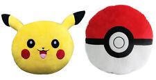 2Pcs Set Pikachu and Pokeball Pokemon Emoji Pillow Stuffed High Quality Plush