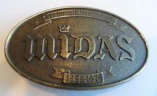 Vintage LEWIS Original 20th Anniversary 1976 Midas Solid Brass Belt Buckle Rare