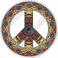 "Peace Sign Hippie Love Colorful Car Bumper Window Vinyl Sticker Decal 4.6""."