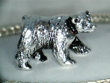SILVER PLATED POLAR  BEAR  #2 SPACER BEAD CHARM ** SEE MY STORE FOR MORE