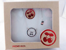 Pacha Ibiza Silver Enclosed Cherry Logo Necklace Boxed