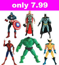 Lot of 6pcs Movie Figures The Avengers Hulk Batman Thor Iron Man Spiderman Toys