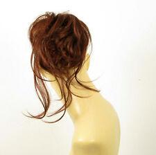 postiche chouchou peruk cheveux châtain foncé cuivré intense ref: 22 en 322