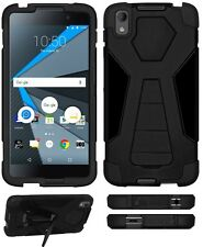 Amzer Dual Layer Hybrid Tough Armor Kickstand Case For BlackBerry DTEK50 - Black