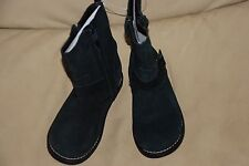 NWT gap real suede black moto motorcycle buckle combat  boots shoes size 10