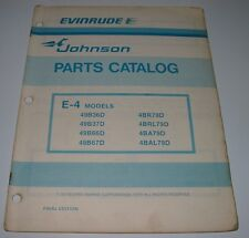 Parts Catalog Evinrude Johnson Ersatzteilkatalog E-4 Models ET Katalog 1979!