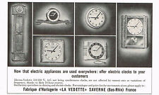 1950's Vintage 1955 La Vedette Electric Clock Co. Electro - Paper Print AD