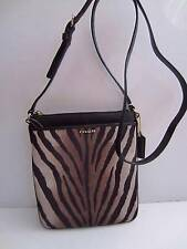 NWT COACH Brown Multi ZEBRA PRINT MADISON SWINGPACK Messenger BAG 50506