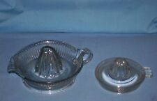 Lot 2 VTG Heavy Clear Glass Hand Juicer Reamer Juice - Oranges Limes Lemons!