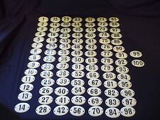 LOT VINTAGE ENAMEL PORCELAIN TIN SIGN PLATE number 100 pcs very small size .