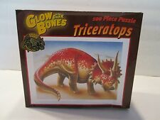 100 Pieces GLOW IN THE DARK BONES Dinosaur VRICERATOPS  Puzzle 2003 NIB