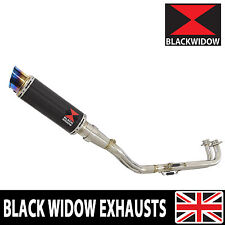 XP 530 TMAX T-MAX 2012-16 Exhaust System Carbon + Blue Steel Tip Silencer CL23R