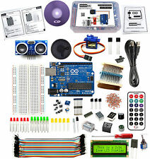ARDUINO UNO R3 ULTIMATE KIT ULTRASONIC SENSOR DRIVERS SERVO IR REMOTE TSOP MOTOR