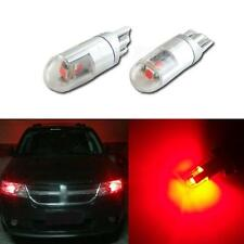 2pcs 360 degree Red T10 W5W 2825 3-3030-SMD LED Bulbs For Car Parking Light