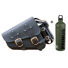 HARLEY DAVIDSON SPORTSTER LEATHER LEFT SADDLEBAG PANNIER CASE + 1L FUEL BOTTLE