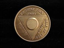 Alcoholics Anonymous AA Year Blank Year Bronze Medallion Token Coin Chip