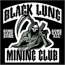 """3 -  Black Lung Mining Club Coal Underground 2"""" Hard Hat Helmet Sticker H556"""
