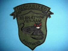 "VIETNAM WAR GR PATCH, US  2nd BN 47th INFANTRY REGIMENT ""MECHANIZED PANTHERS """