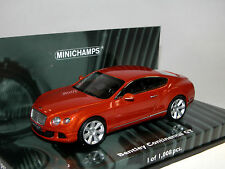 Minichamps 436139981, Bentley Continental GT, 2011, naranja metalizado, 1:43