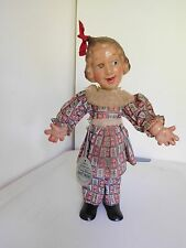 "Vintage 1930's Ideal 12"" Fanny Brices Baby Snooks Flexy Compo All Original w/Tag"
